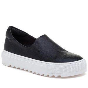 JSlides Women's Sage Platform Slip-On Sneaker